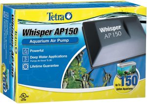 Tetra Whisper Air Pump for Deep Water Applications reviews and user guide