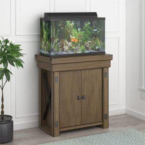 fish aquarium stand Ameriwood Home Wildwood Aquarium Stand, 20 gallon, Rustic Gray