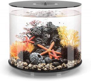 best luxury fish aquariums - biOrb Tube Black Aquarium with Micro Light