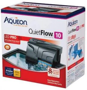 Aqueon QuietFlow LED PRO Aquarium Power Filters reviews and user guide